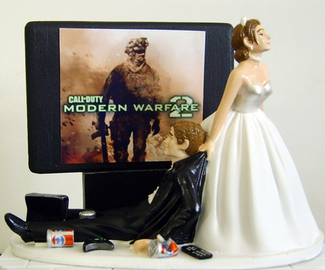 Video Game Junkie Wedding Cake Topper