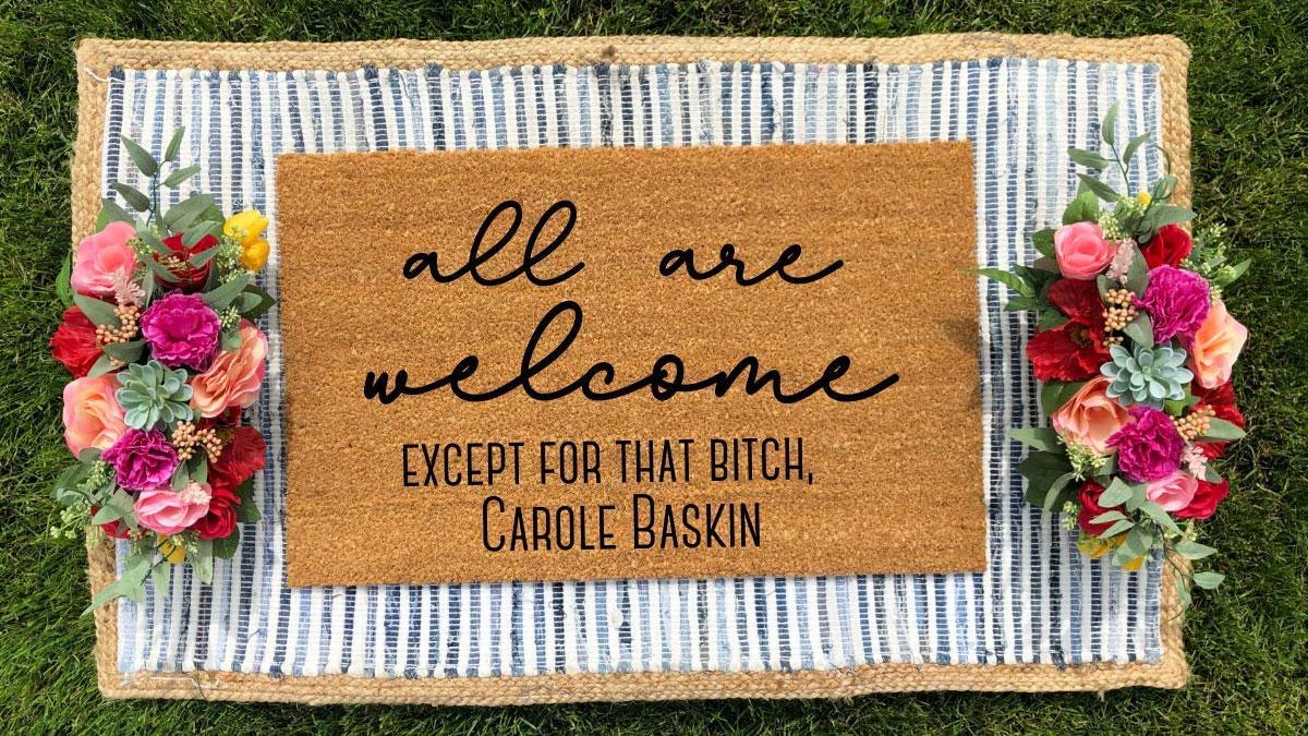 Tiger King Carole Baskin Doormat