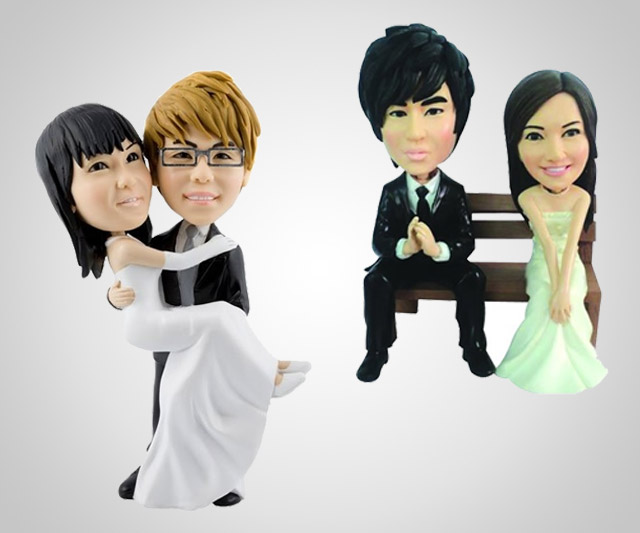 Your Face Wedding Cake Topper