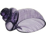Blown Purple Glass Hermit Crab Shell