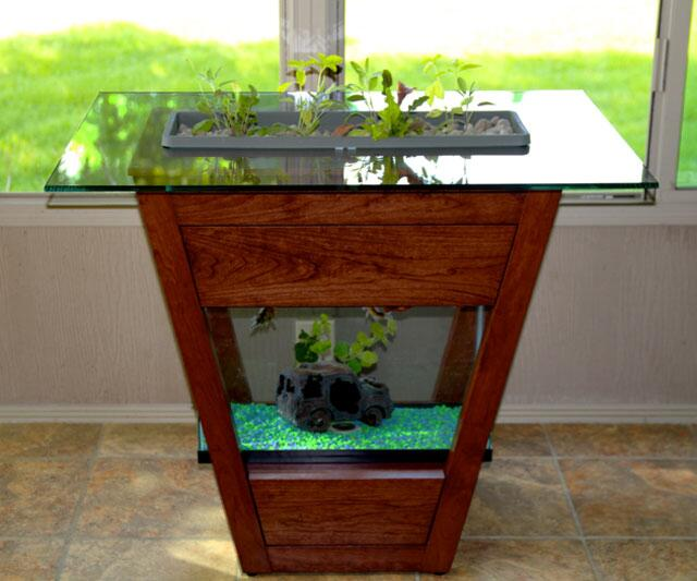 Wonderful Living Furniture   Aquaponic End Table ...