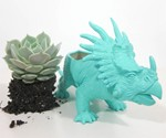Styracosaur Planter - Front View