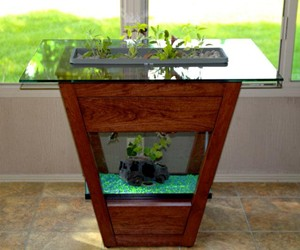 Living Furniture - Aquaponic End Table