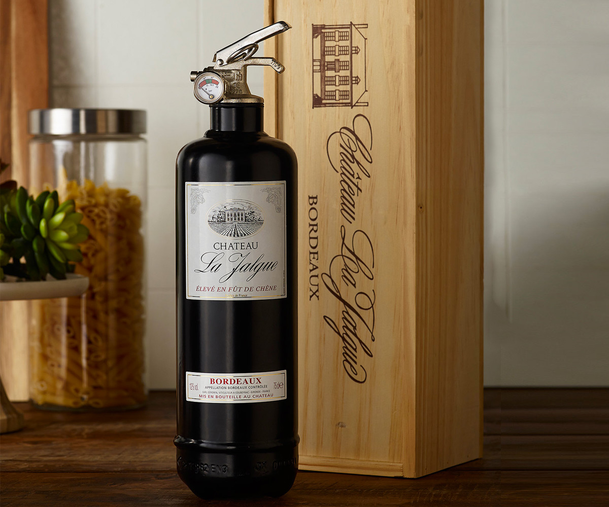 Decorative Fire Extinguisher wine bottle fire extinguisher | dudeiwantthat