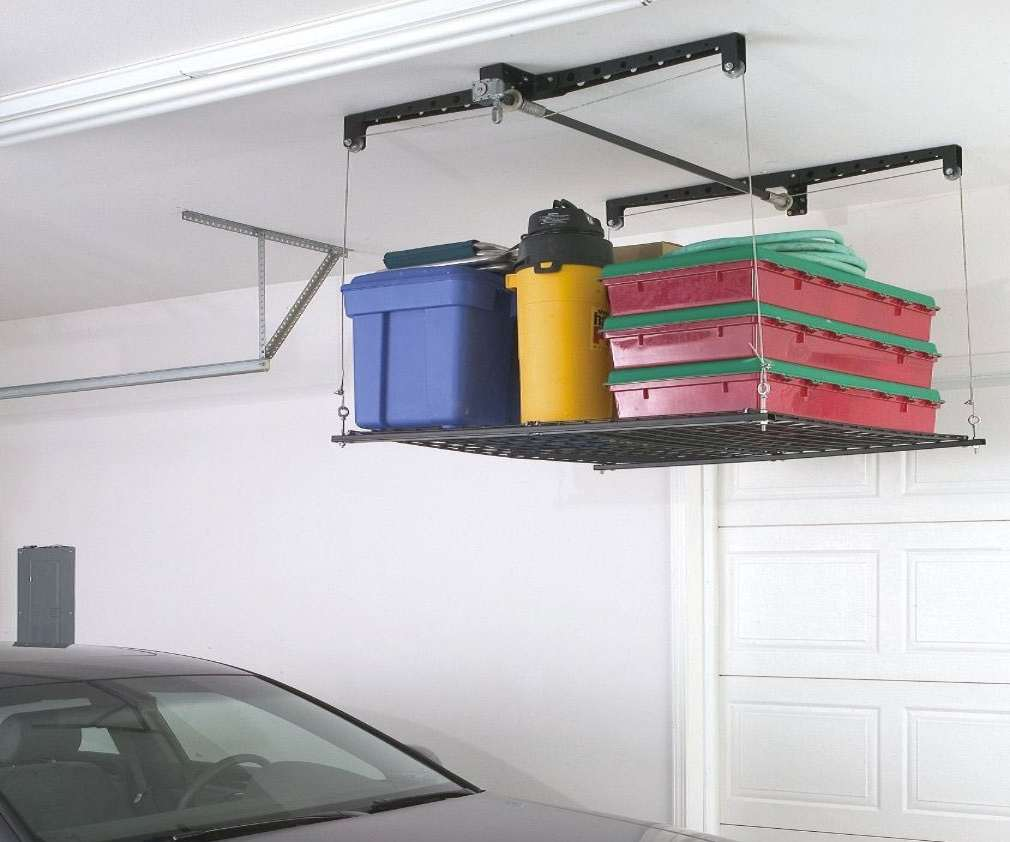 4 X 4 Cable Lifted Storage Rack Dudeiwantthat Com