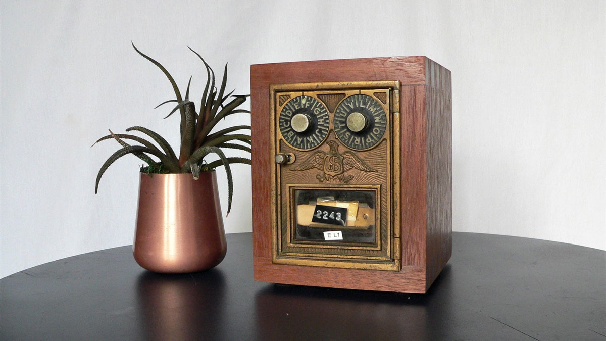 Handmade Vintage Post Office Door Safes