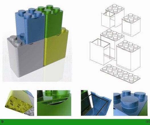 Lego Recycling Bins Dudeiwantthat Com