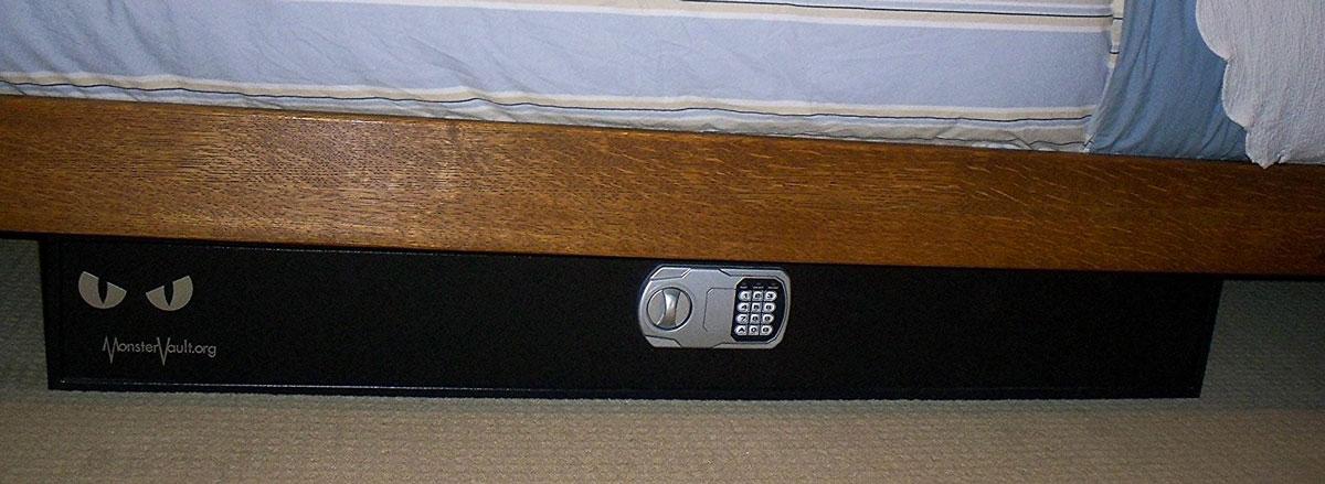 Extra Slim Under Bed Storage: Monster Vault Under-the-Bed Safe