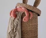 Bunny Ears Seagrass & Rattan Storage Basket