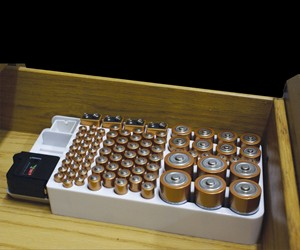 Battery Organizer with Removable Tester