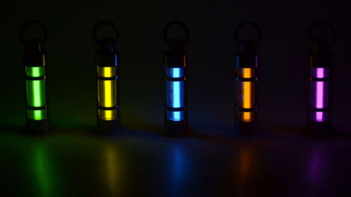 Titanium Alloy Tritium Keychains
