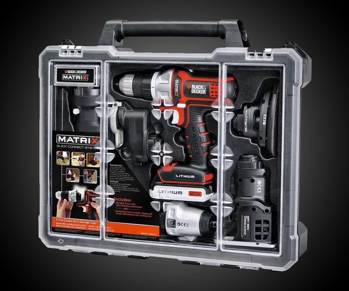 black and decker tools. black \u0026 decker matrix 6 tool combo kit and tools