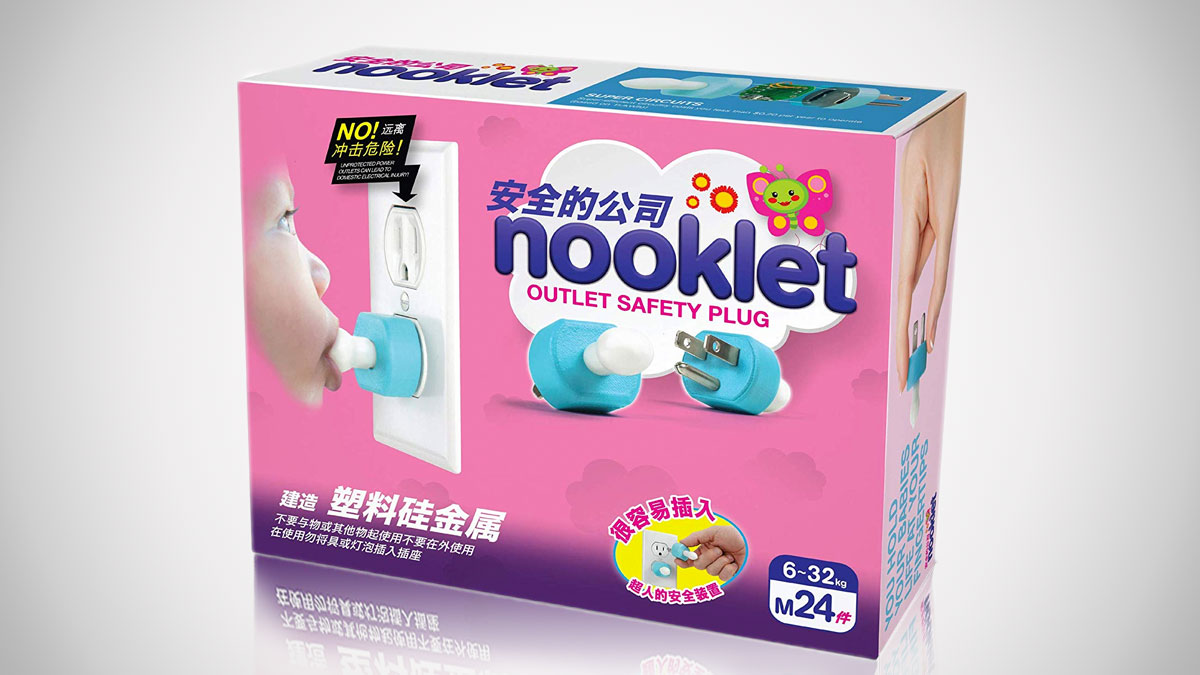 Nooklet Outlet Safety Plug for Babies & Toddlers