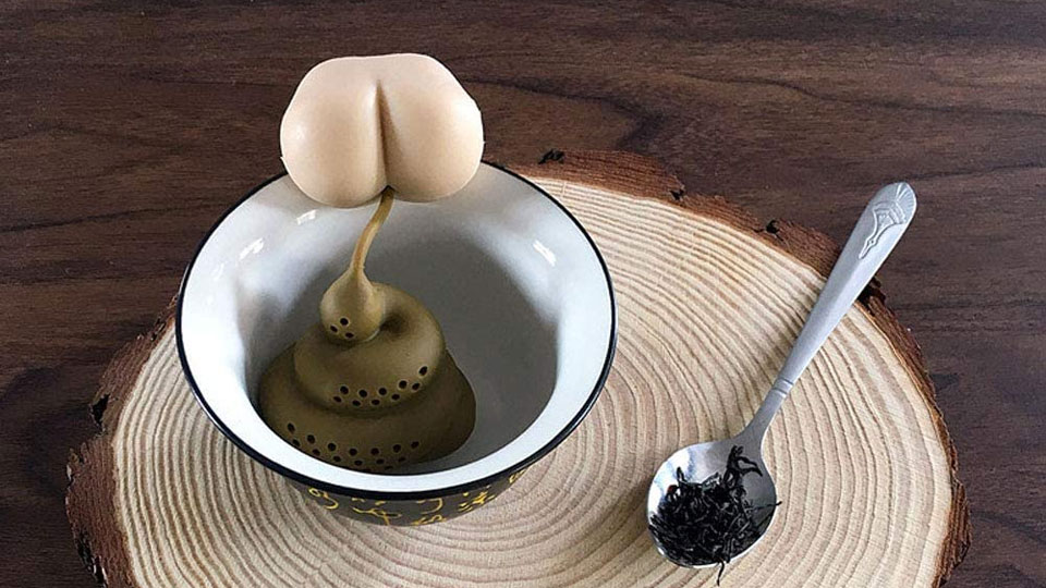 Deuce Dropper Pooping Butt Tea Infuser