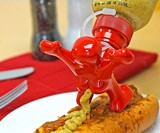 Running Behind Condiment Bottle Topper