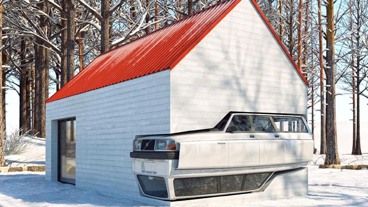 Volvo 240 Winter Cabin
