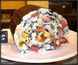 World's Largest Sushi Roll