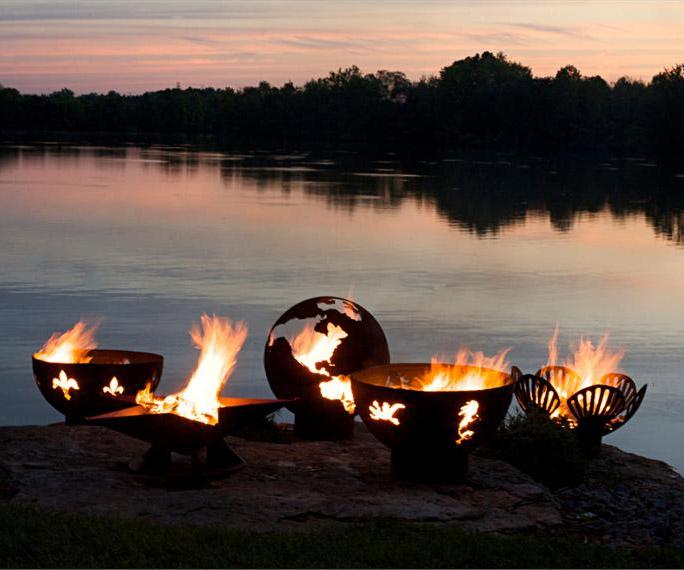 planet earth globe fire pit. Black Bedroom Furniture Sets. Home Design Ideas