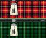 Insta-Kilt Towel in Red and Green