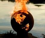 Planet Earth Globe Fire Pit