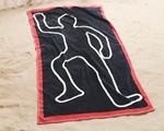 Crime Scene Beach Towel-9088