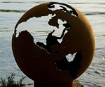 Planet Earth Globe Fire Pit Unlit