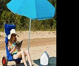 Folding Beach Chair & Roller Cart