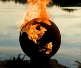 Planet Earth Globe Fire Pit