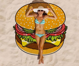 Cheeseburger Beach Towel