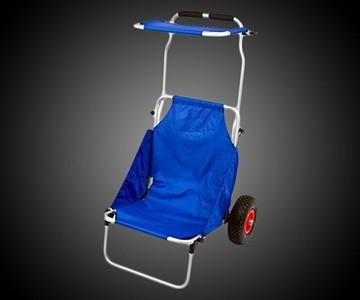 Folding Beach Chair & Roller Cart