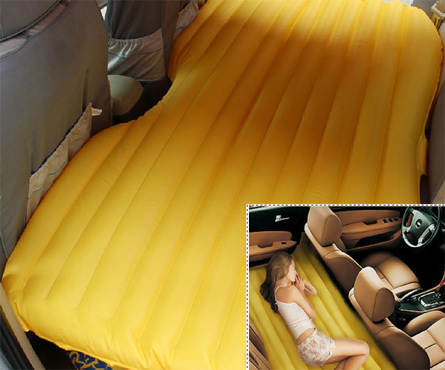 inflatable back seat mattress | dudeiwantthat