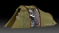 Atacama Expedition Motorcycle Tent