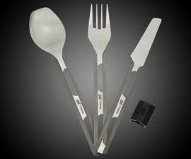 Ultra-Lightweight Titanium Camping Cutlery