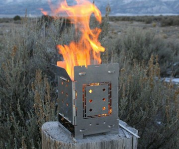 "Firebox 5"" Folding Campfire Stove"