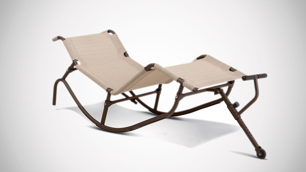 Easy Outdoor Zero Gravity Rocking Chaise Lounge
