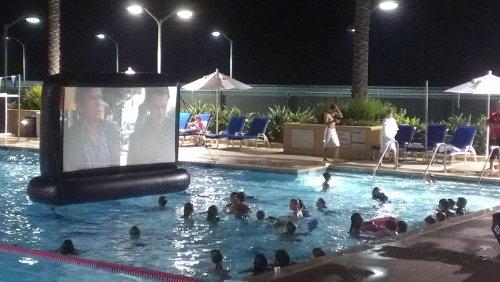 110 Swimming Pool Movie Screen