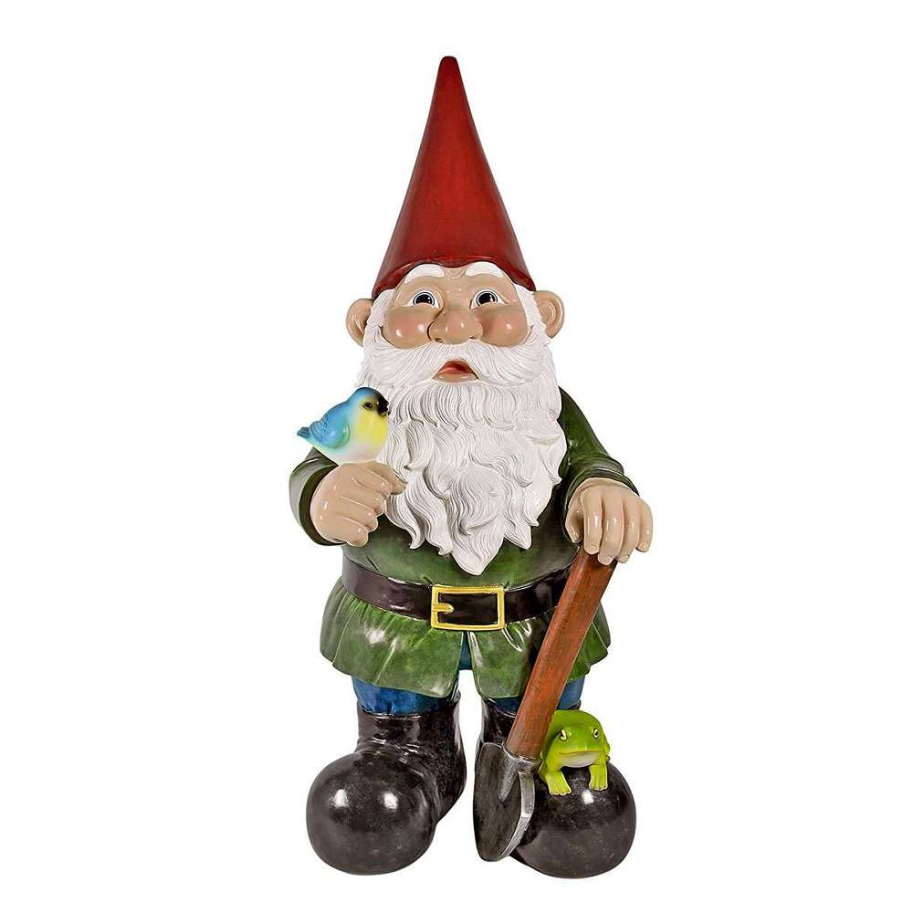 Gnome In Garden: 8-1/2-Foot-Tall Garden Gnome Statue