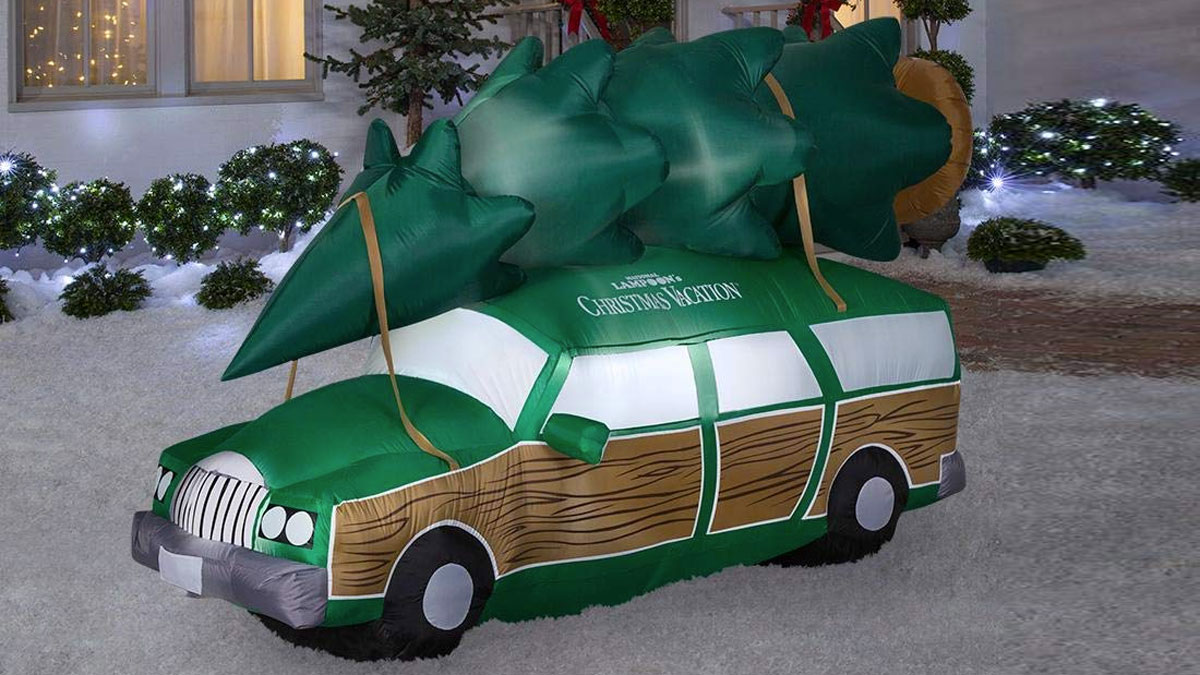 8' Inflatable Christmas Vacation Station Wagon