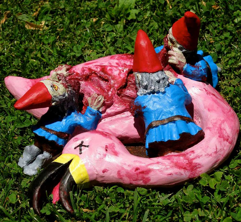 zombie gnomes bye bye birdie - Garden Gnomes For Sale