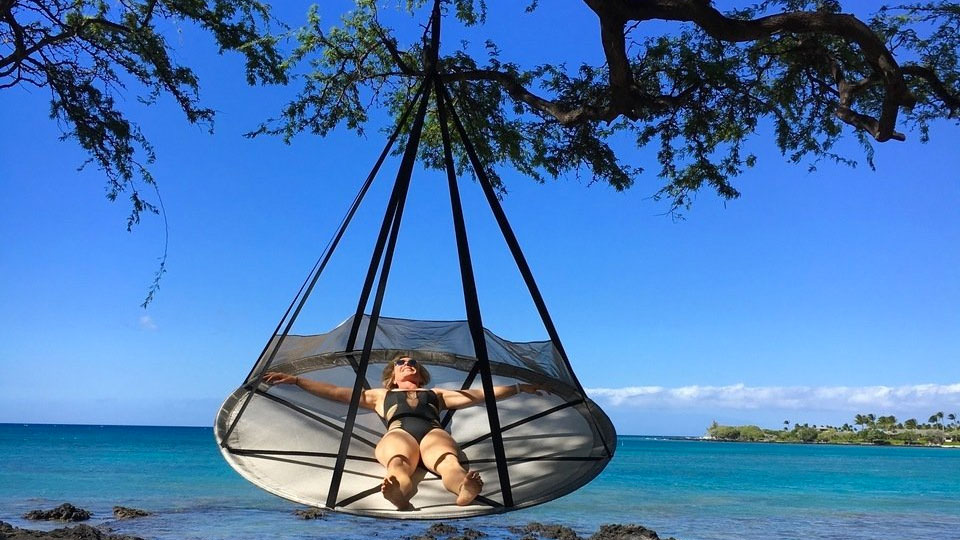 Flying Saucer Hanging Hammock Chair Dudeiwantthat Com