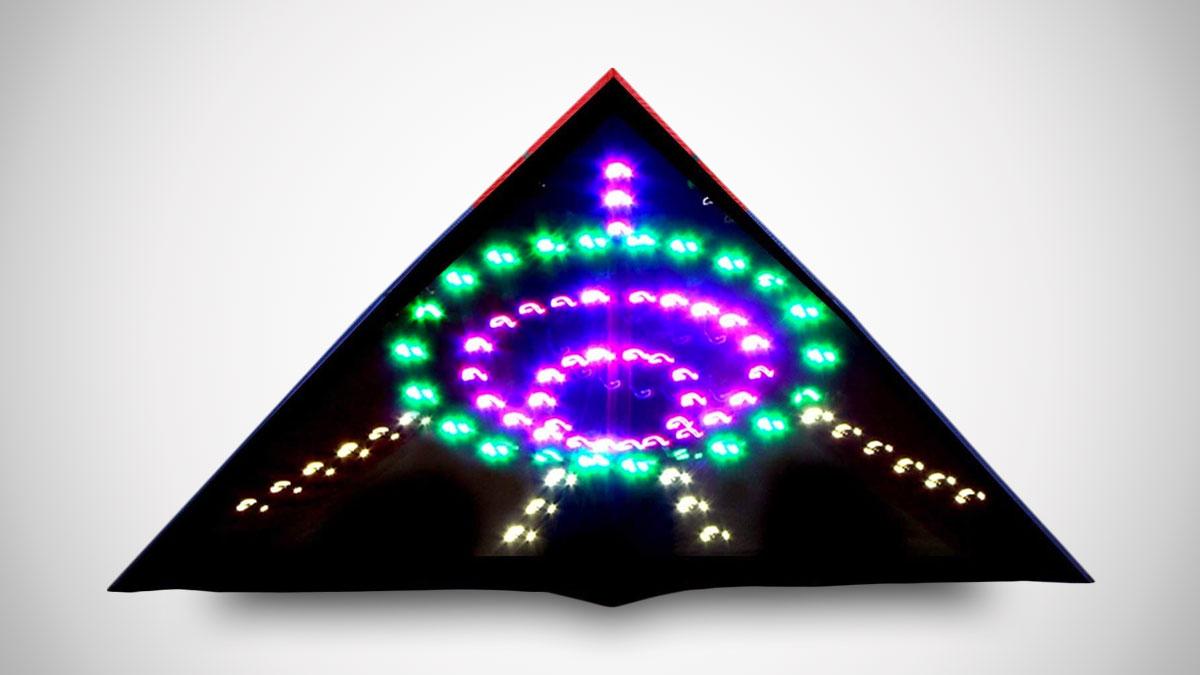 Flying Saucer LED Kite
