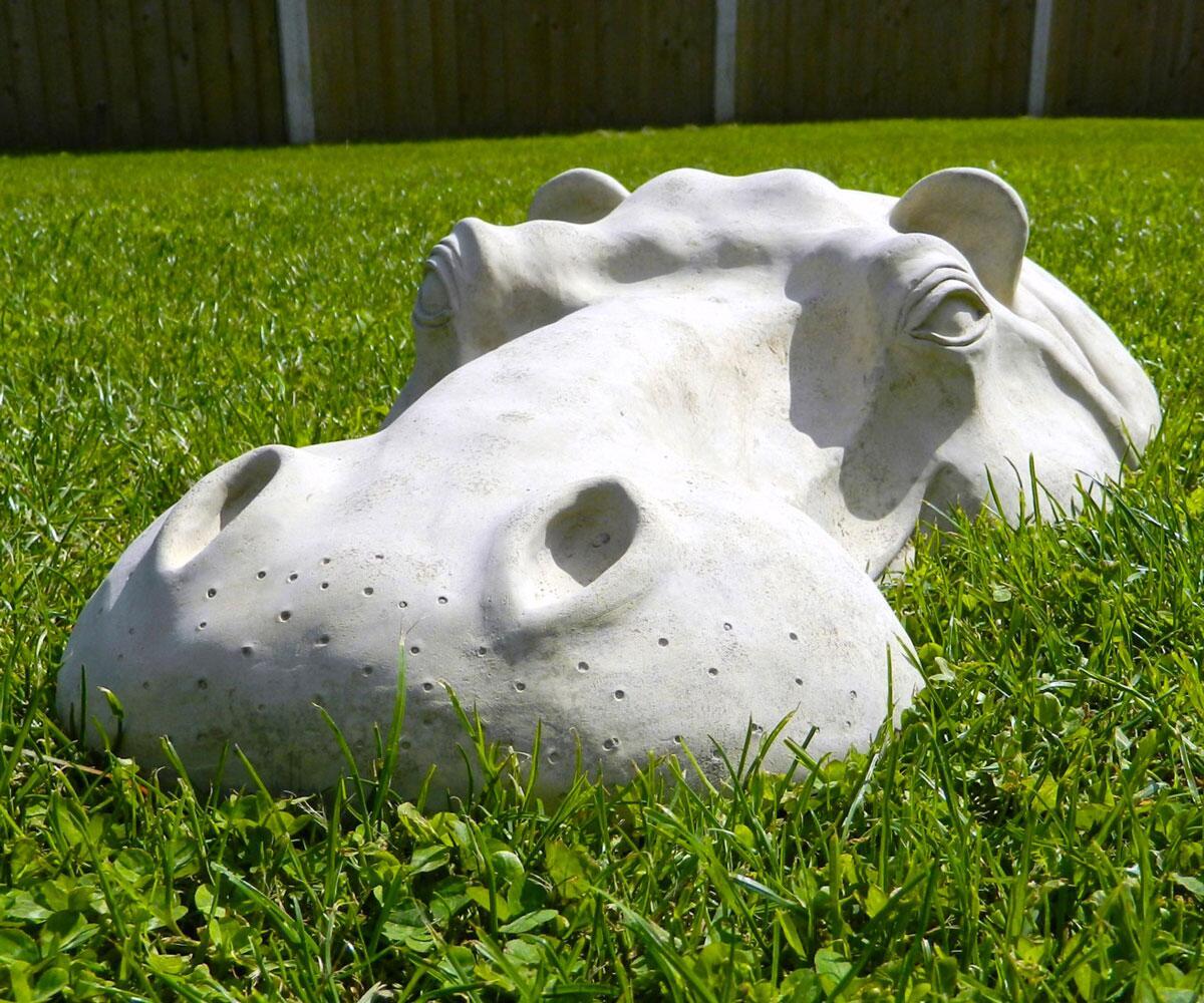 Hippopotamus Lawn Ornaments | DudeIWantThat.com on Backyard Ornaments id=51288