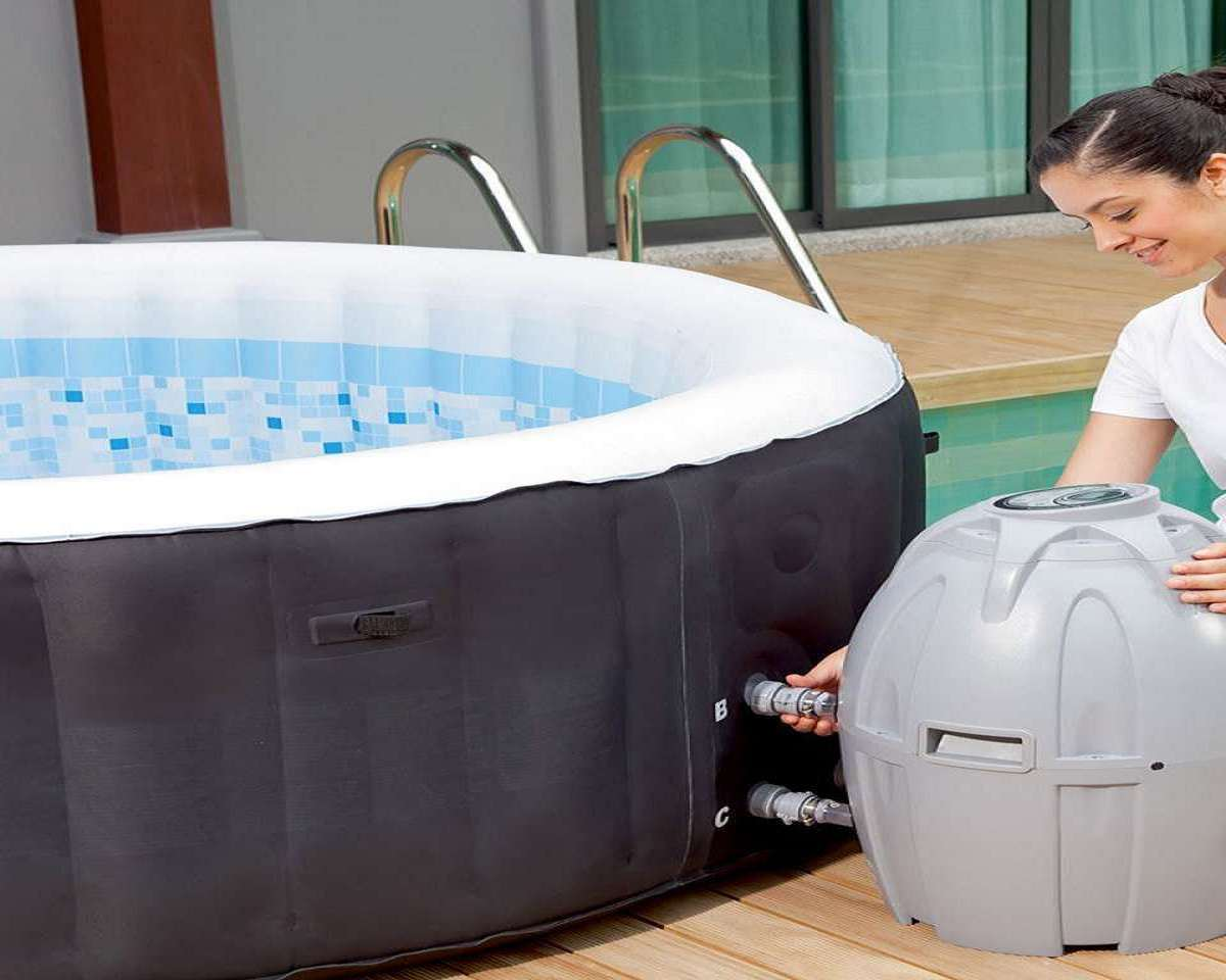Lay z spa miami 4 person inflatable hot tub - Lay z spa miami ...