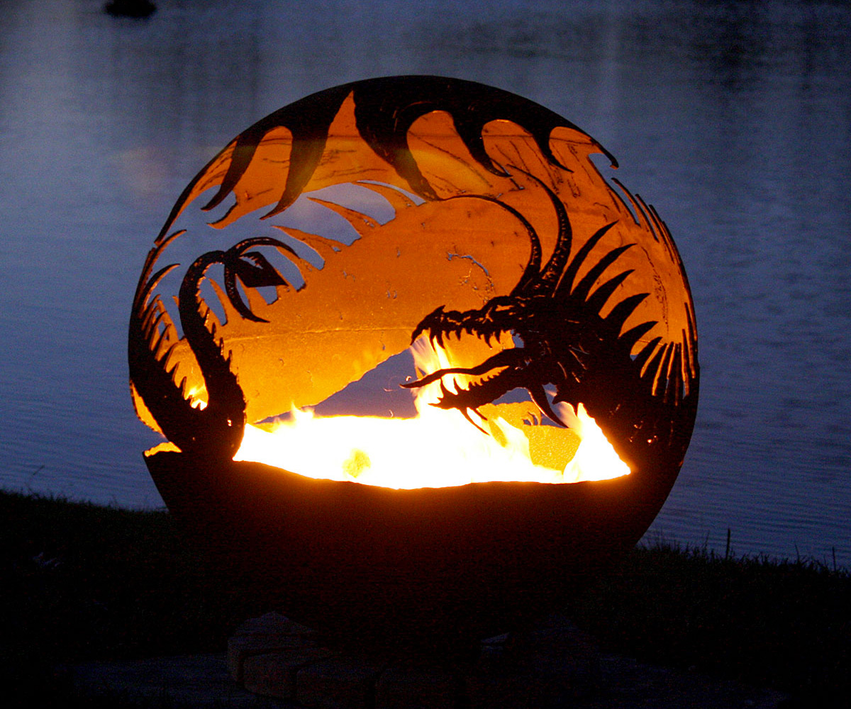Pendragon S Hearth Dragon Fire Pit Dudeiwantthat Com