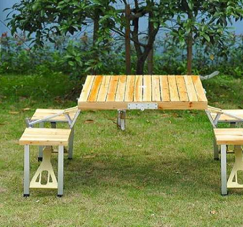 Wood Picnic Table Home Depot