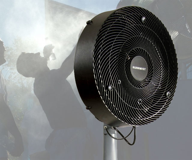 Air Misting Fan : Portable hoseless misting fan dudeiwantthat