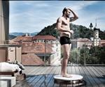 Man Using VITEO Outdoor Shower