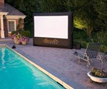 CineBox Backyard Theater System at Pool