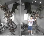 Giant Steampunk Dragon - Scale View