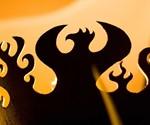 Great Bowl O' Fire Steel Firepit - Phoenix Carving